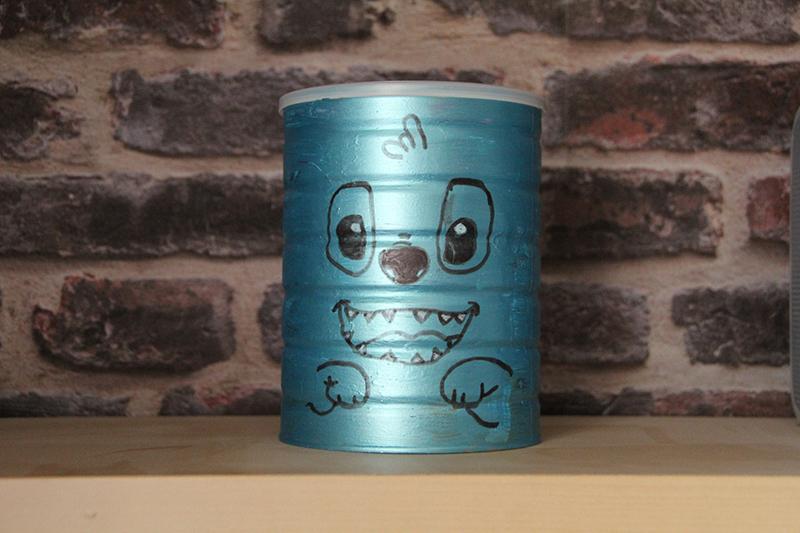 Boîte lait Guigoz recyclée boîte Stitch