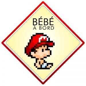 Bébé à bord Mario