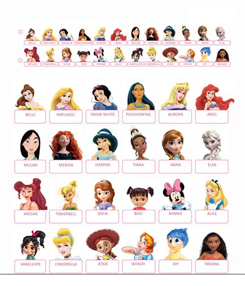 Ce À Imprimer 'princesses Disney' Et Qui Est Guess Vidéos' 'jeux TK1c3lJF