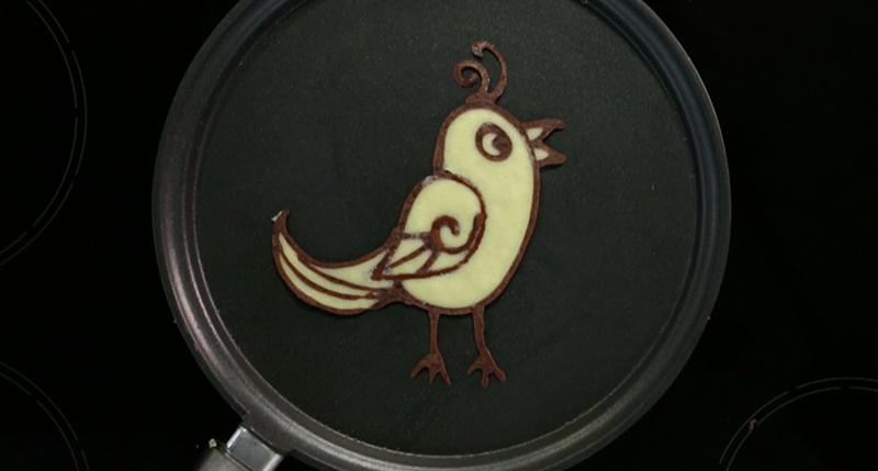 Crepe Art Oiseau