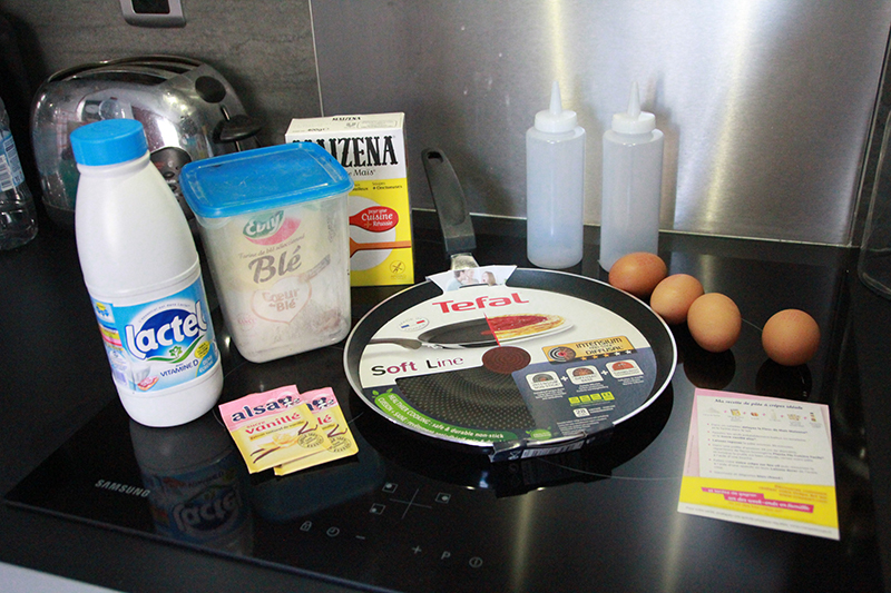 Ingredients crêpes