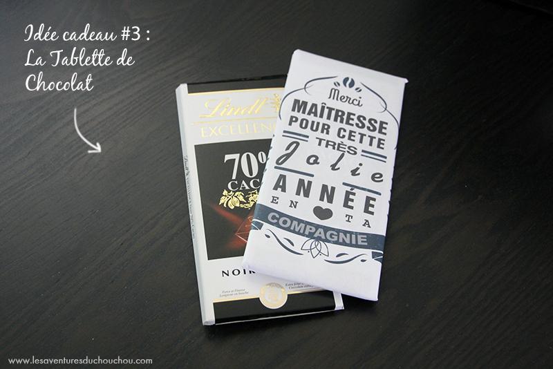 Tablette chocolat cadeau
