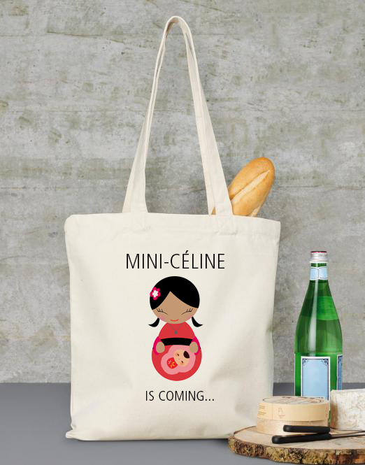 Tote bag baby is coming