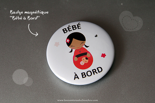 Badge bébé à bord