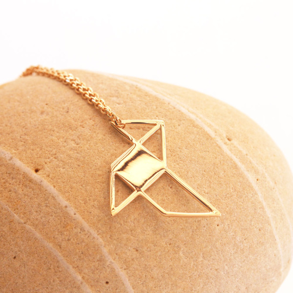Collier cocotte origami