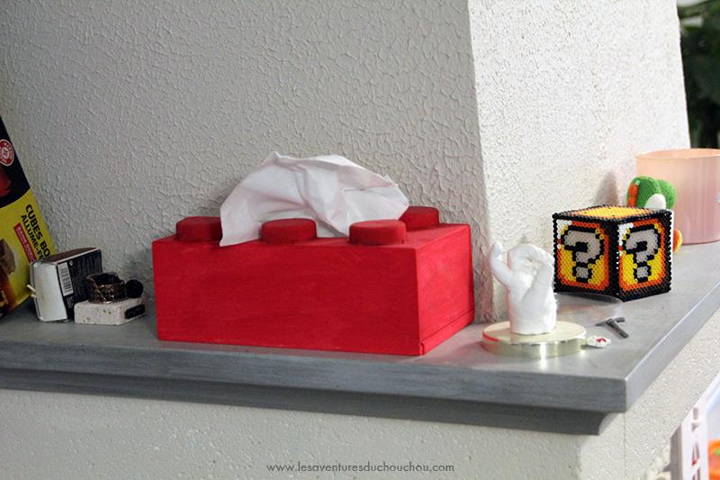 boite mouchoirs cheminée