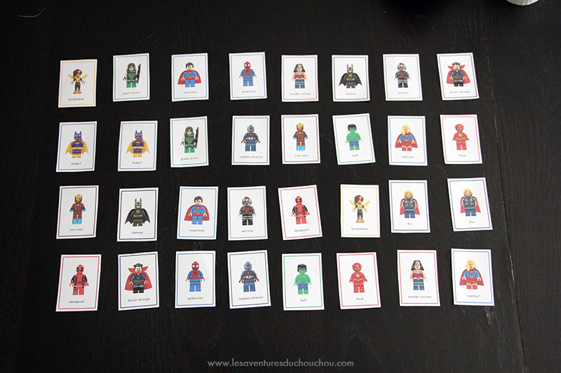 Marvel DC Memory Game