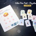 Étiquettes de cadeaux de Noël + Lettre au père Noël + Nos wishlists