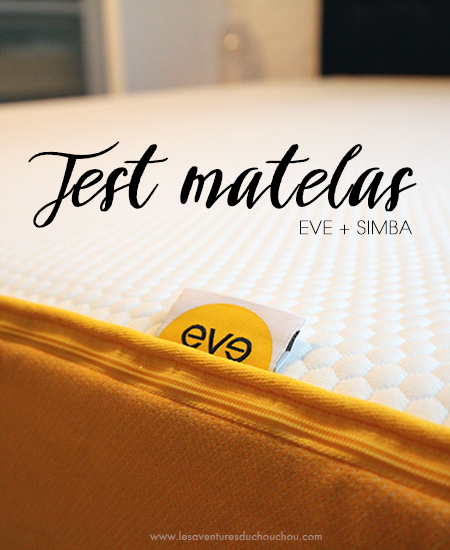 test matelas eve simba les aventures du chouchou cendr. Black Bedroom Furniture Sets. Home Design Ideas