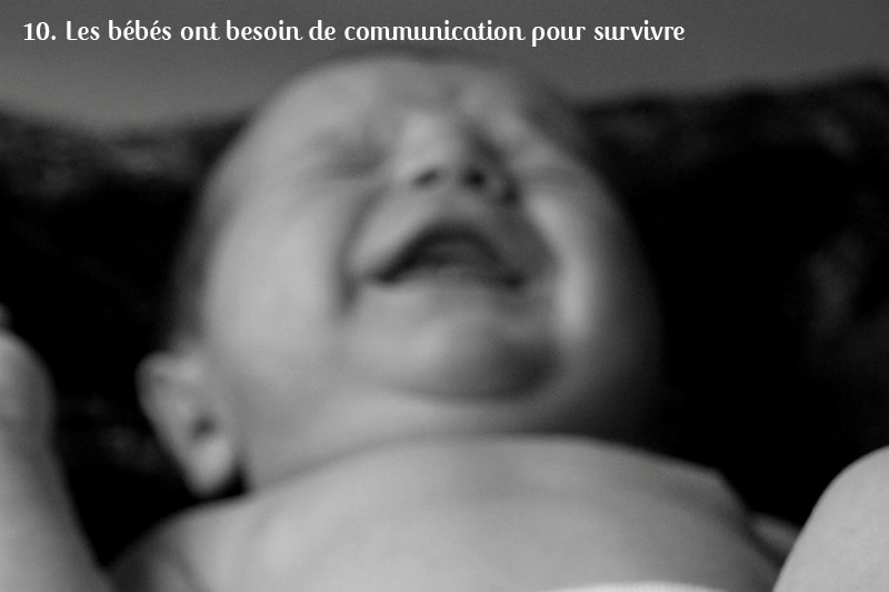 bébés communication survivre