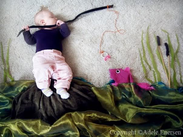Bébé pêche