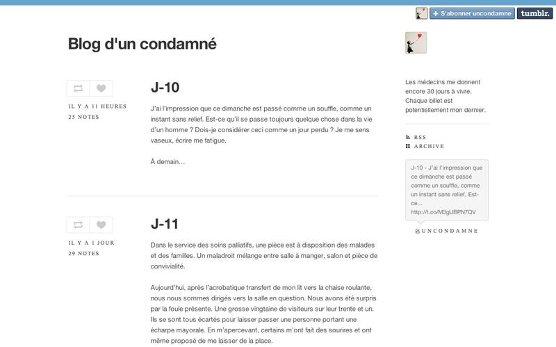 Blog condamné