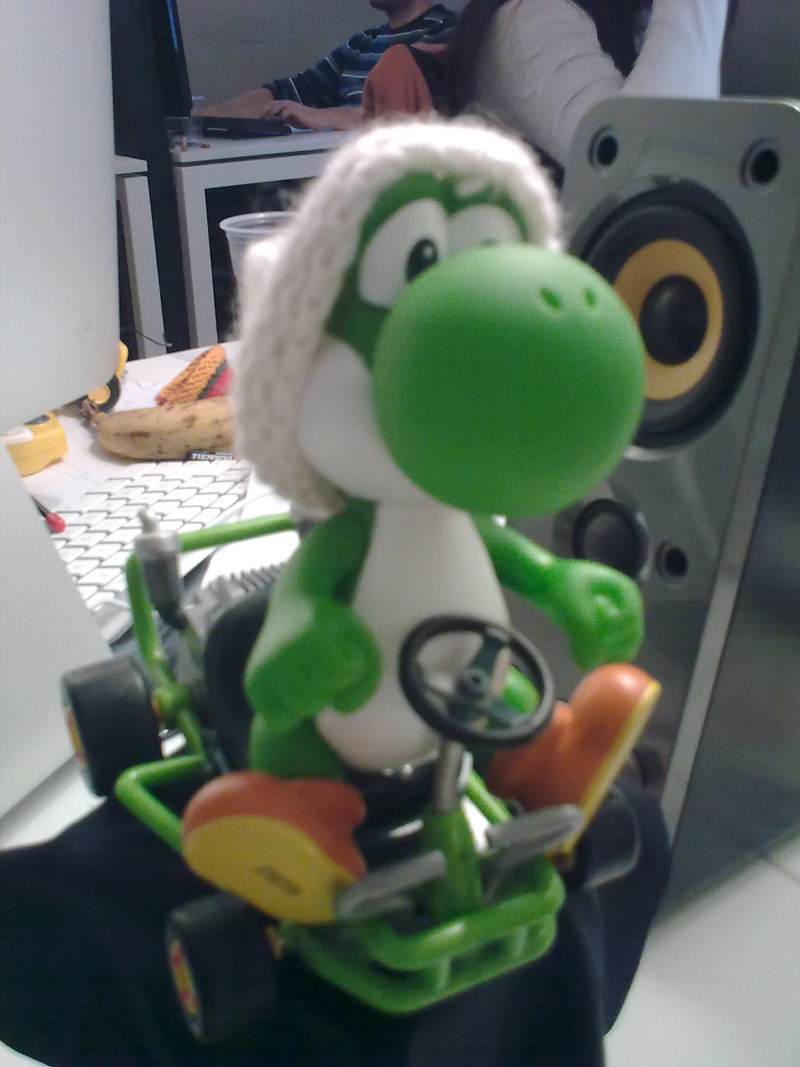 Yoshi fait du karting