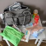 Déballage du sac à langer