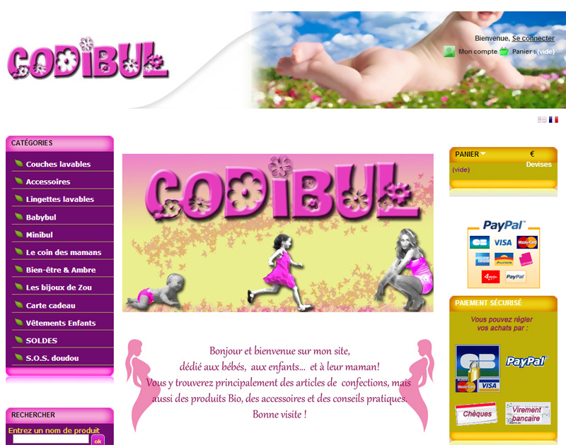 Site boutique Codibul