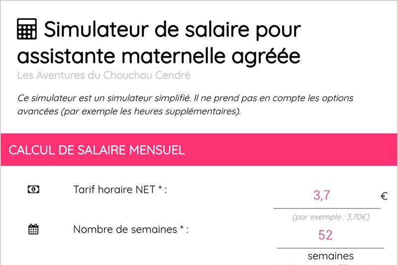 Le Simulateur De Calcul De Salaire Pour Assistante Maternelle