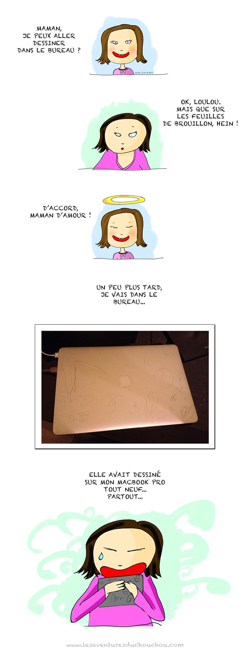 MacbookPro gribouillé