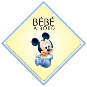 Bébé à bord Mickey