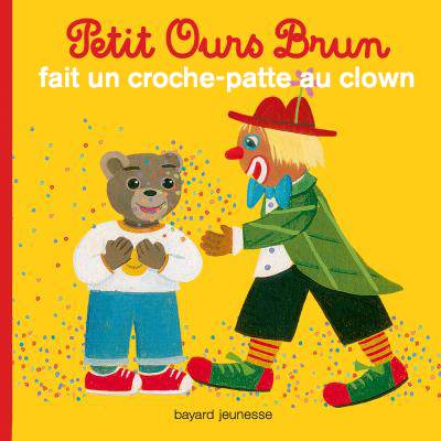 Petit ours brun clown