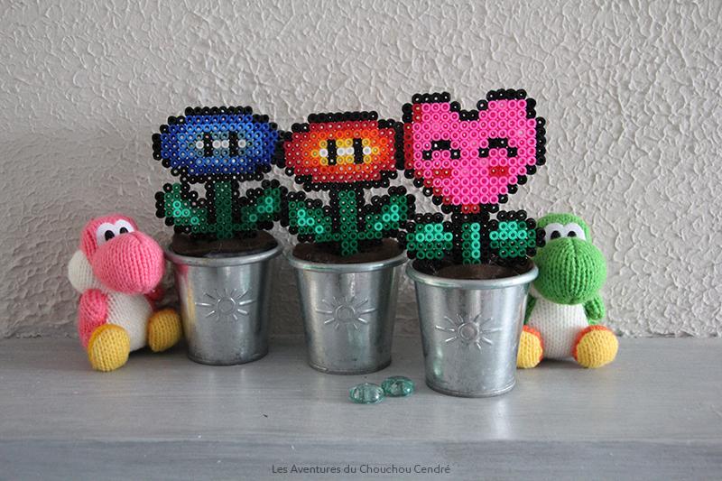 Fleurs Mario perles