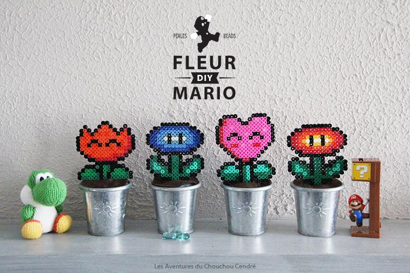DIY Fleur mario perles