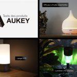 Tests produits AUKEY #2 : diffuseur d'huiles essentielles, lampe de chevet tactile LED et lumières LED solaires