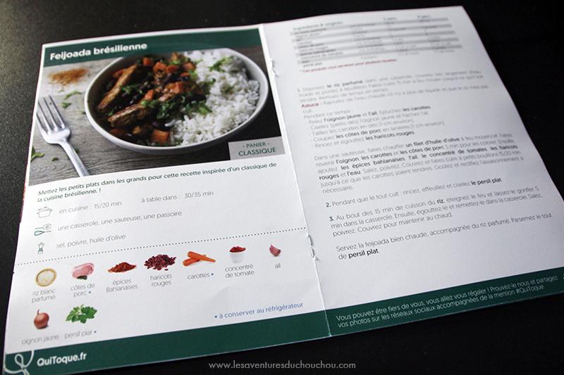 Quitoque livret recettes