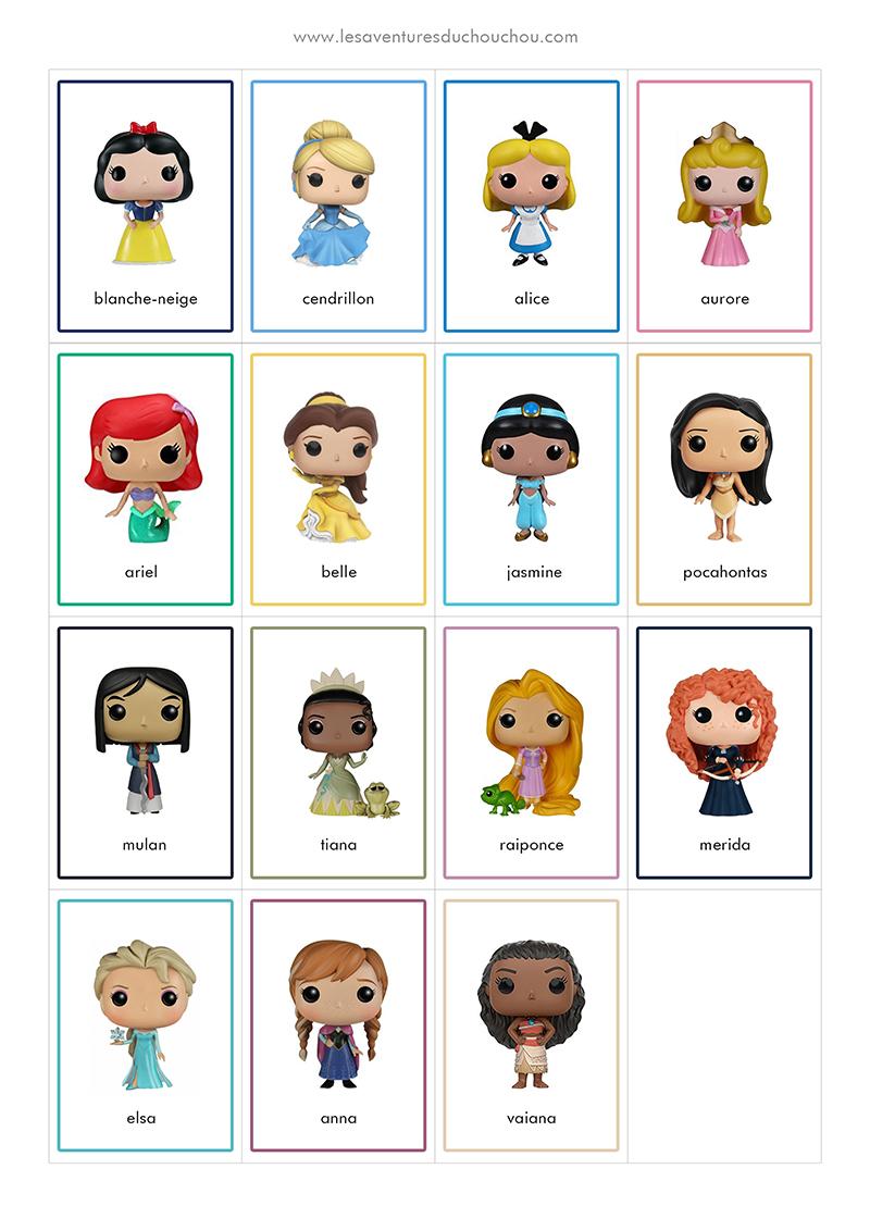 Jeu De Memory A Imprimer Memory Game Printable Disney Princess Superheroes Les Aventures Du Chouchou Cendre