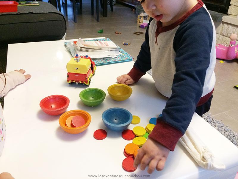 Tri jetons Montessori