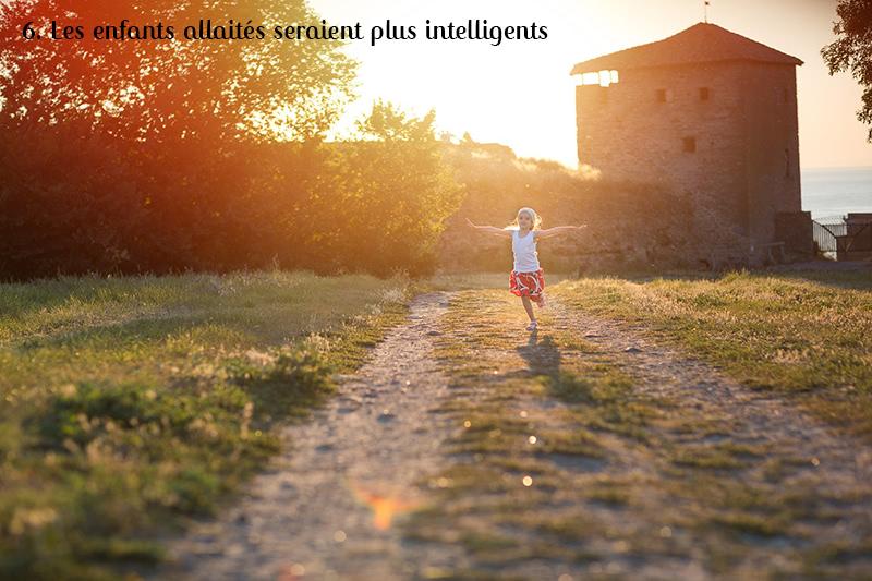 enfants allaités intelligents
