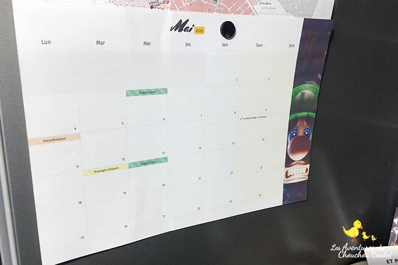 calendrier frigo