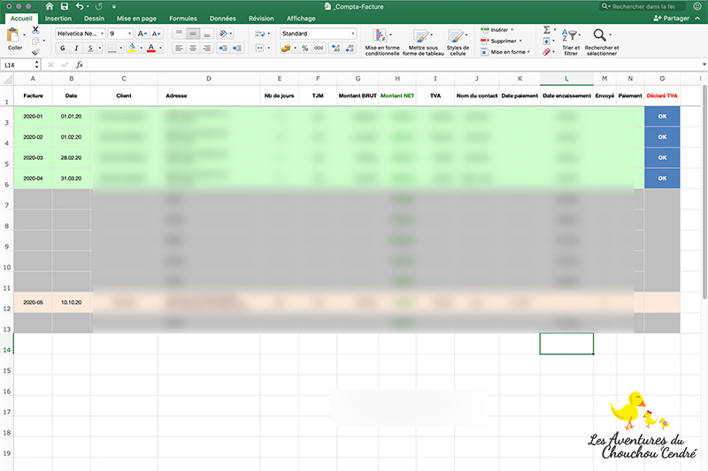 Excel comptabilité